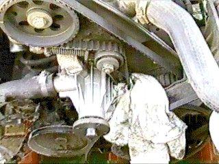 changing a volvo b230f water pump 1994 Volvo 940 Transmission installing new pump
