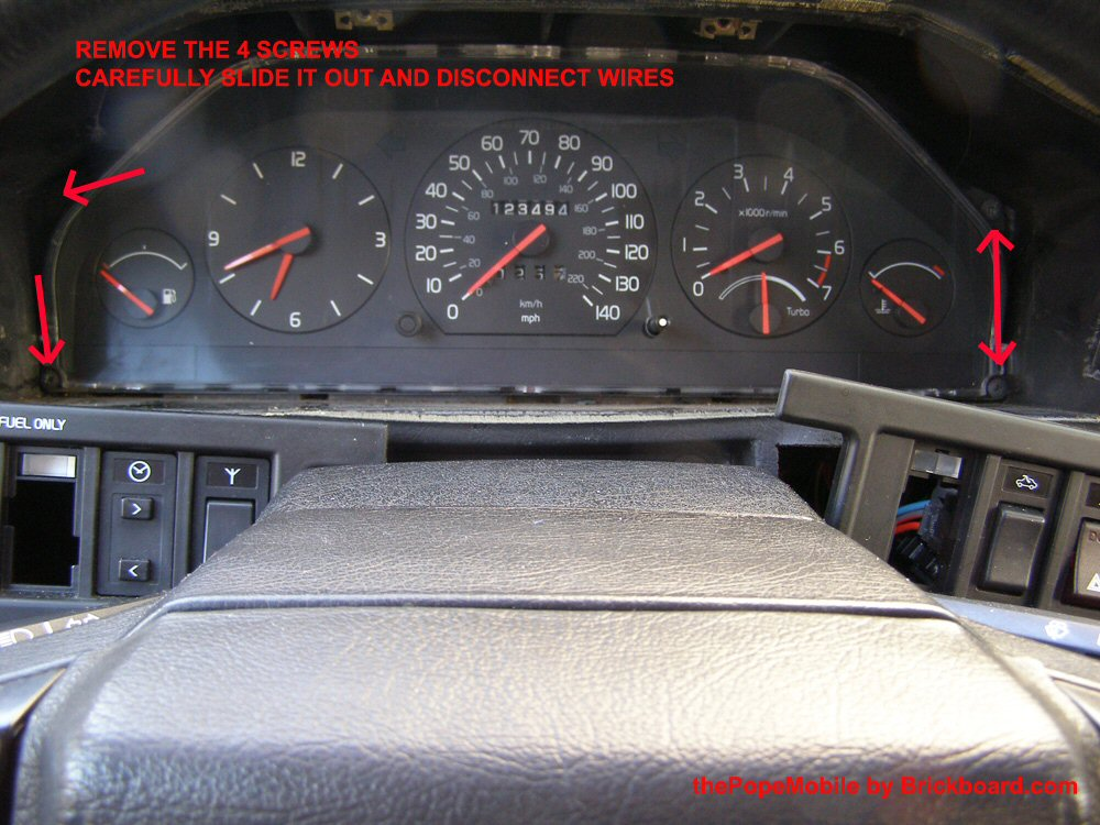 speedo1 electrical instruments 700, 900, 90 series Volvo 850 Engine Diagram at crackthecode.co