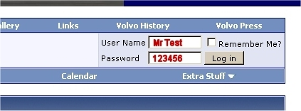 Volvo Forum Screen Shot