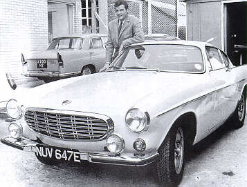 Roger Moore and Volvo 1800